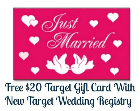 Free $20 Target Gift Card With New Target Wedding Registry