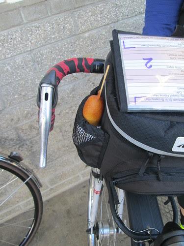 Graham's bike has a built-in corndog holder