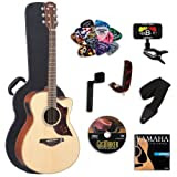 Yamaha AC1 Acoustic-Electric Guitar with Yamaha Hard Case and Legacy Kit (Tuner, Picks, DVD and More)