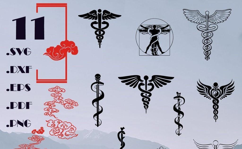 Medical Symbol Caduceus SVG RN Nursing Svg Star of Life SVG Registered Nurse Svg Instant Download