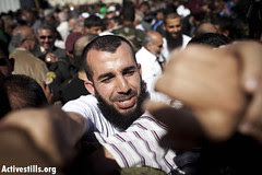 Release of prisoners, Ramallah, 18.10.2011.