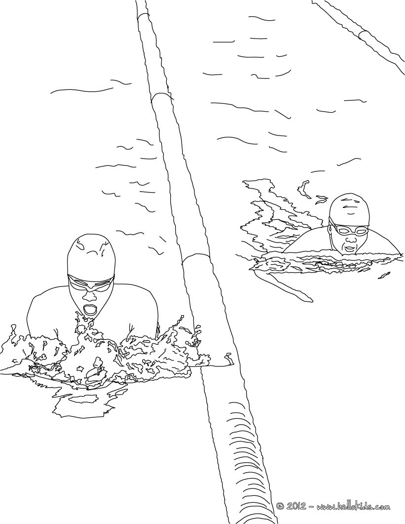 FREESTYLE swimming sport coloring page