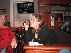 Birdchick on the bar