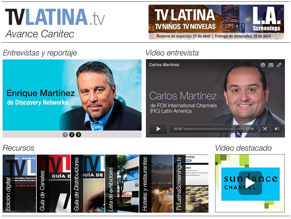 ***Avance de TV Latina para Canitec ***