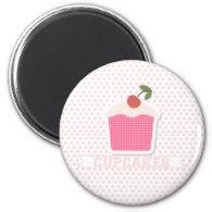Cupcakes & Polka Dots Magnet
