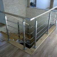 Solid Rod Stainless Steel Railing Design For Balcony Stairs Of