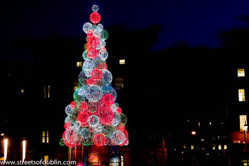 Smithfield at Night - The Glass Christmas Tree by infomatique