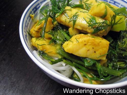 Cha Ca Thang Long (Vietnamese Hanoi-style Turmeric Fish with Dill) 3