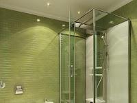 Bathroom Design Green Tiles