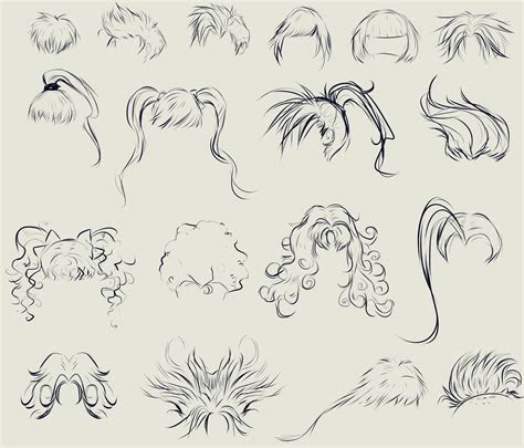 anime hair reference sheet  ryky