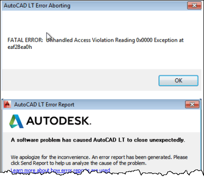 Autocad write - Unhandled Access Violation