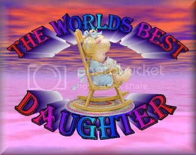 I Love You Daughter. WORLDS BEST DAUGHTER