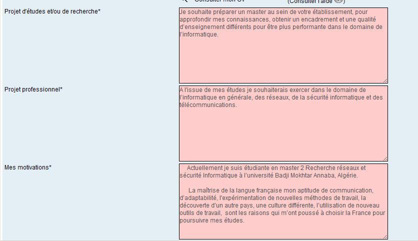 Lettre De Motivation Campus France Algerie Exemple