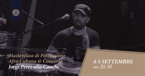 Jorge Perez alla Casella: Masterclass di Percussione Afro