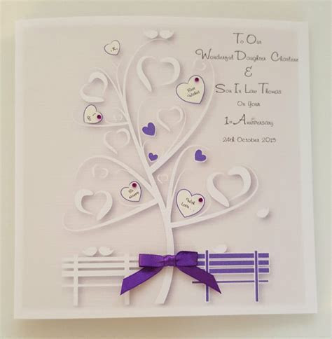Personalised 1st Wedding Anniversary Card Daughter Son In