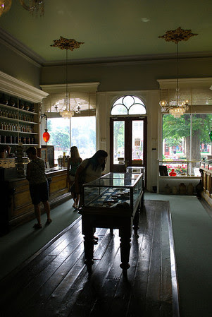 Inside the Niagara Apothecary,an authentic museum restoration of a 1869 pharmacy as part of a practice that operated in Niagara-on-the-Lake, Ontario, from 1820 to 1964.