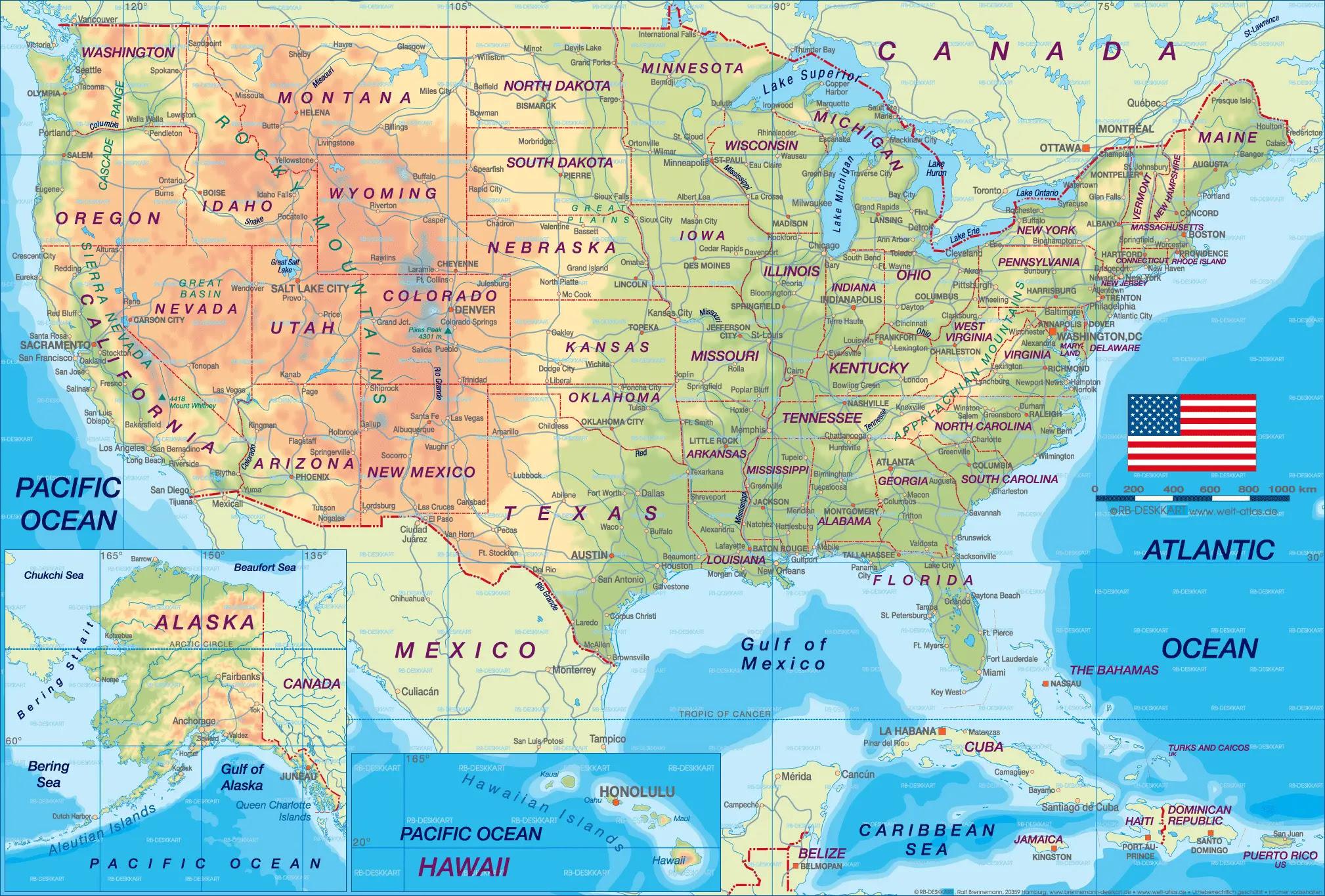 United States Cities Map  E2 80 A2 Mapsof Net