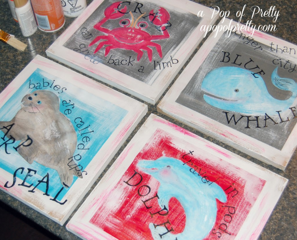 Two Fun DIY Mod Podge Wall Art Project for Kids' Rooms   A Pop of