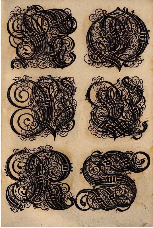 Paulus Franck - 'Schatzkammer Allerhand Versalien Lateinisch vnnd Teutsch', 1601 alphabet c