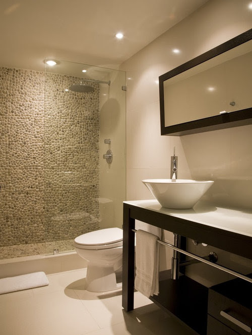 Doorless Walk-In Shower Home Design Ideas, Pictures ...