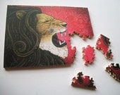 Iron Lion 5x7 Custom Wood Jigsaw Puzzle