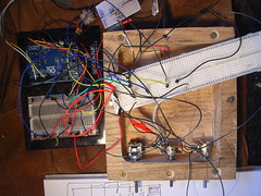Testing practical implementation of circuit diagram for automaton head