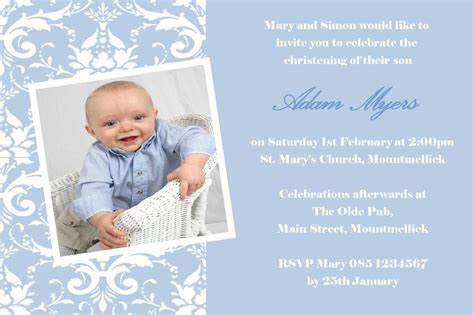 Godparents invitation wording