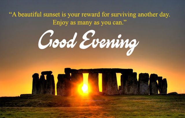 Inspirational Good Evening Images With Quotes Lines About Sunset Eve
