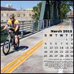 January 2012 desktop calendar