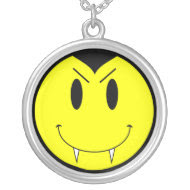 KRW Vampire Smilie Face Sterling Silver Necklace necklace