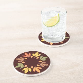 Autumn Leaves Beverage Coaster