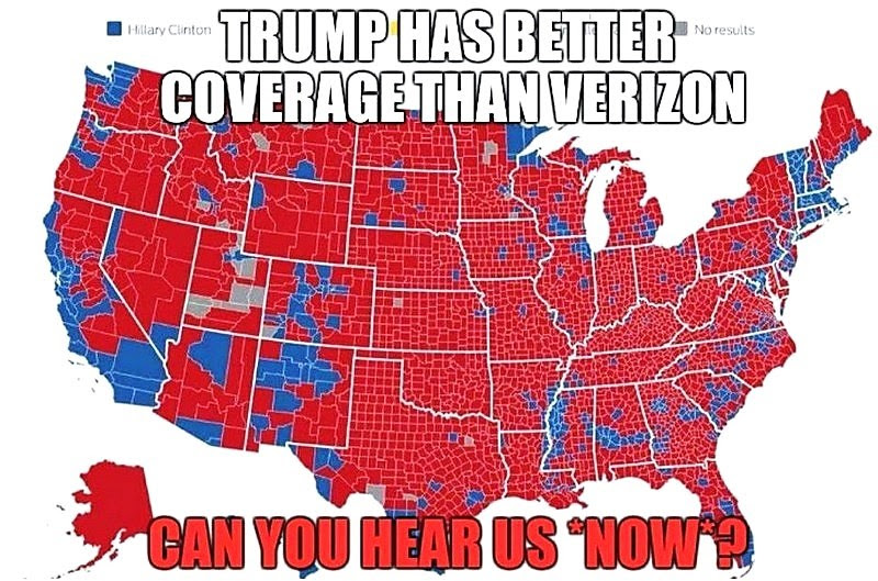 Image result for trump wins counties