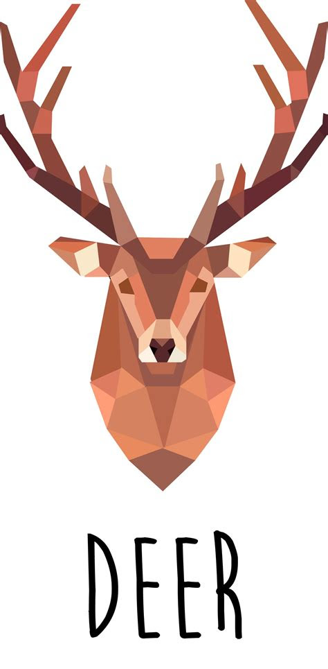 deer illustration diy wallpaint geometric deer