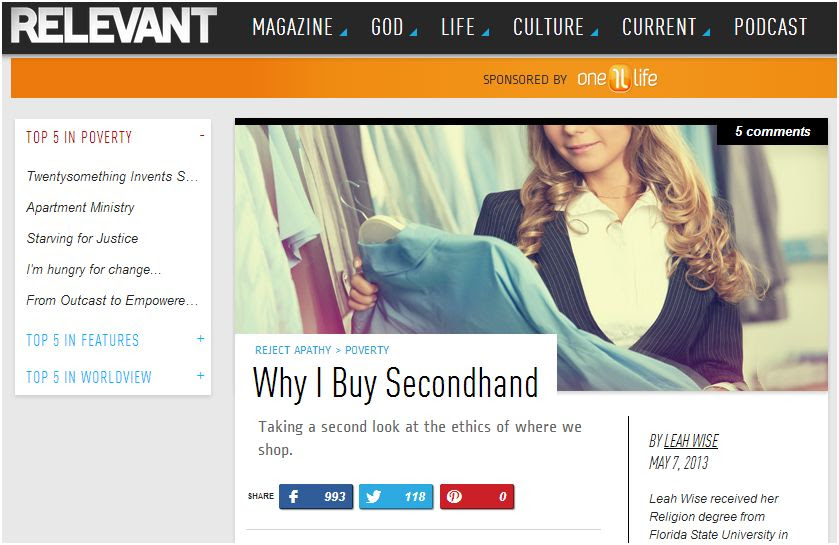 why i buy secondhand relevant