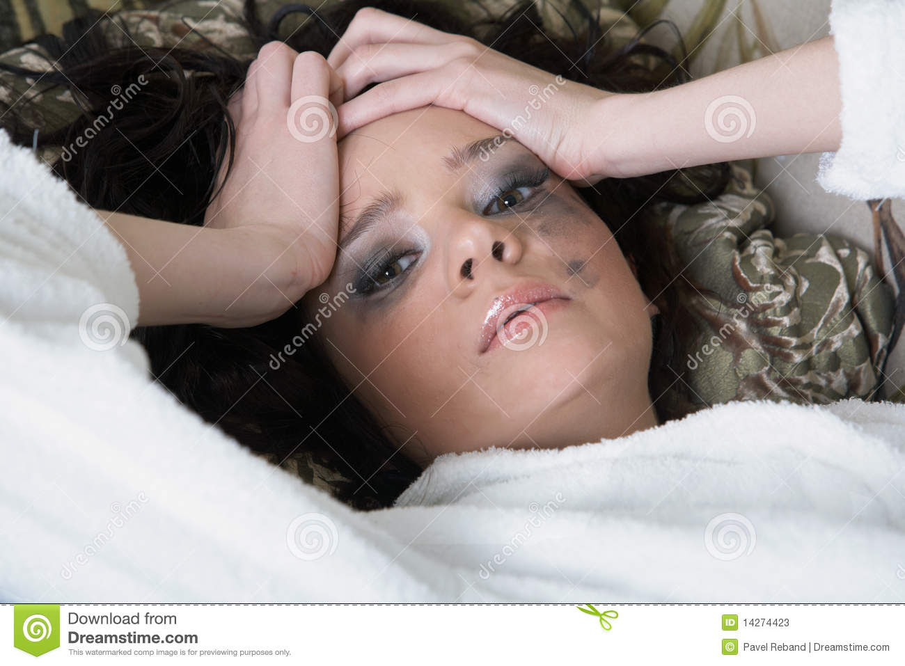Young Adult Woman Depressed Stock Photos - Image: 14274423
