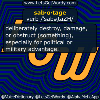 sabotage 11/23/2016 GFX Definition