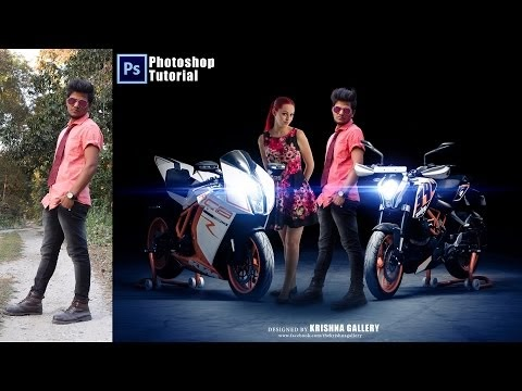 Photoshop Movies Poster Design | KTM lover | Movies Poster With Girl | P...