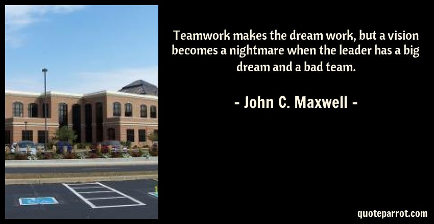 Teamwork Makes The Dream Work But A Vision Becomes A N By John C