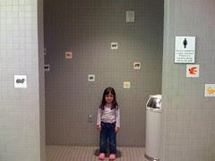 In the Eric Carle museum bathroom