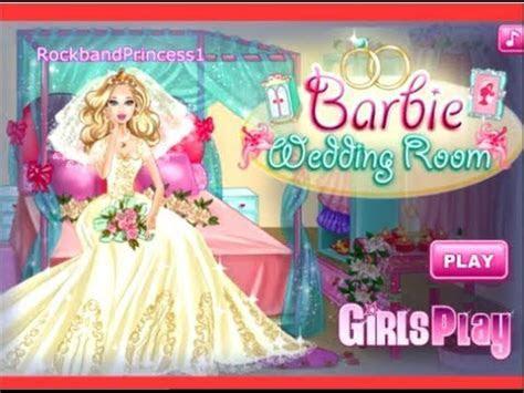 Barbie Games Barbie Wedding Room Decoration And Dress Up