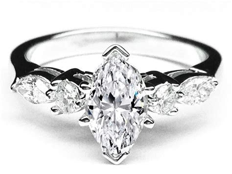 Marquise Diamond Engagement Ring Marquise   Wed