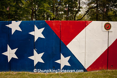 Roadside Flag Mural Honoring the Military, Clermont County, Ohio