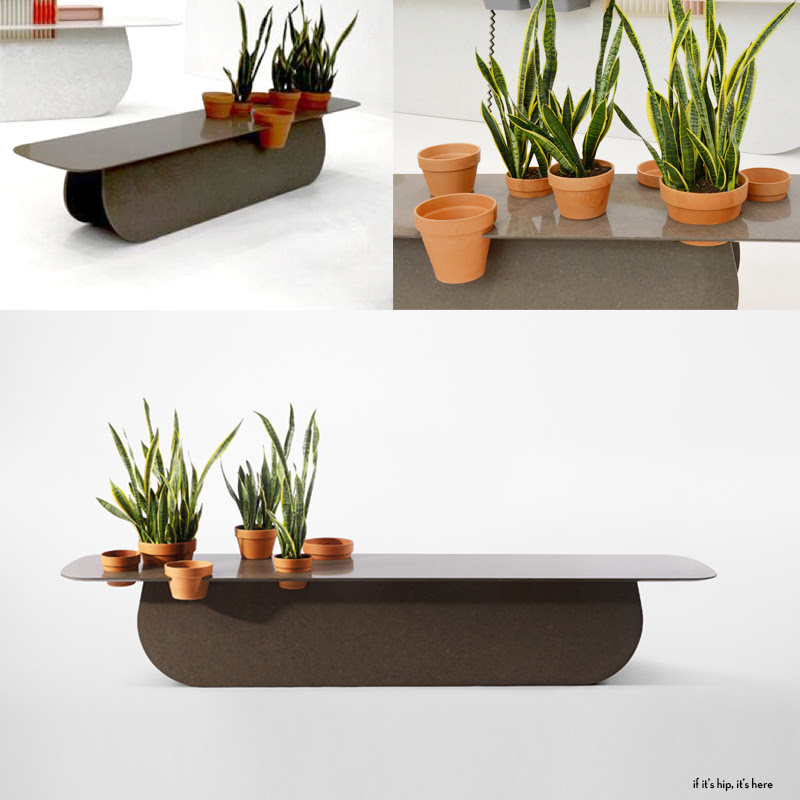 caesarstone raw edges islands planter ganged IIHIH