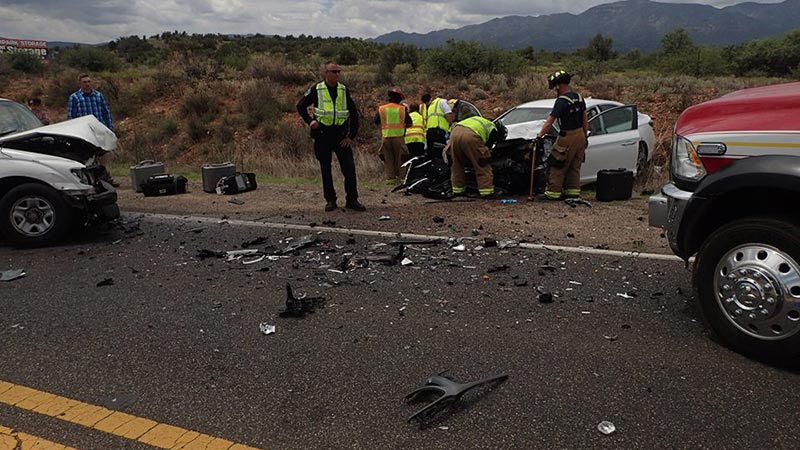 Flagstaff Man Hospitalized Following Crash Near Cottonwood