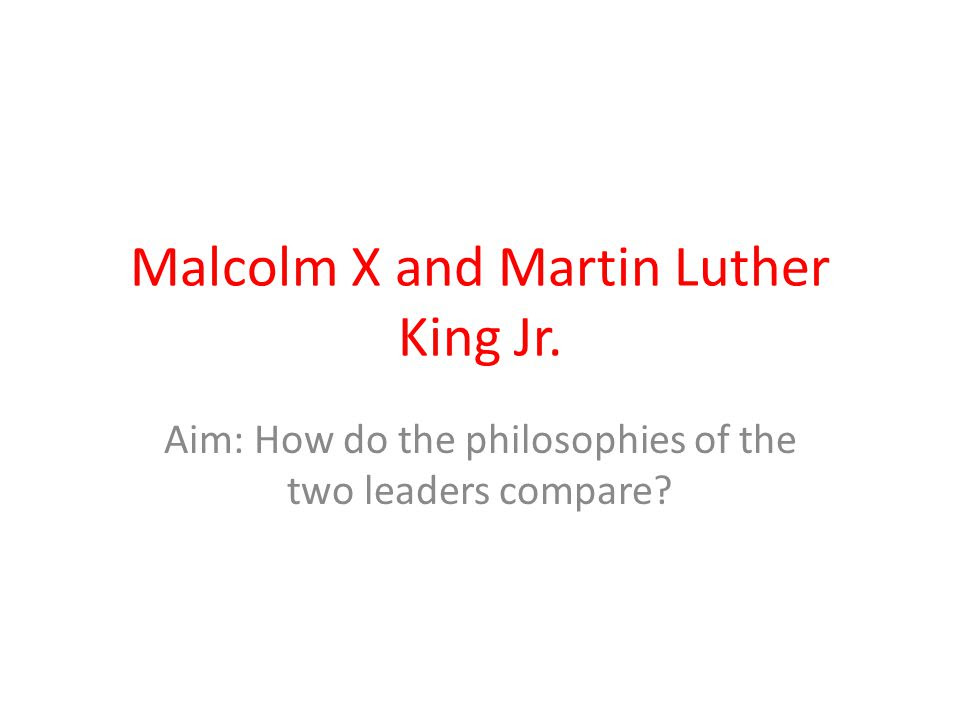 Malcolm+X+and+Martin+Luther+King+Jr