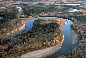 English: Yukon Flats River and Oxbows, Yukon F...