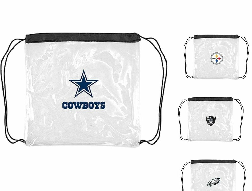 Stadium Approved NFL Clear Cinch Bags Assorted Teams Size 12quot;x12quot;  eBay