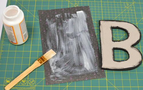 Chipboard Letter - mod podge paper