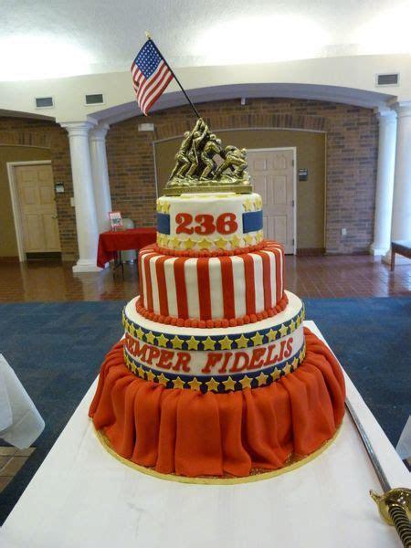 4 tier Marine Corp Ball cake   Village Bakery   Tyler TX