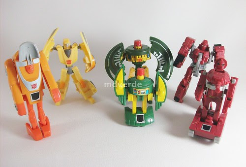 Transformers Minibot Spy Team Classics Henkei Legends vs G1 - modo robot